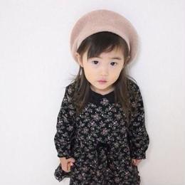 ベージュベレー帽