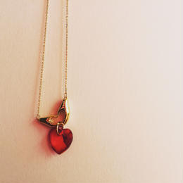 Heart Hand & Glass Heart ♡ necklace