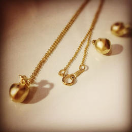 【14kgf】newton's apple necklace