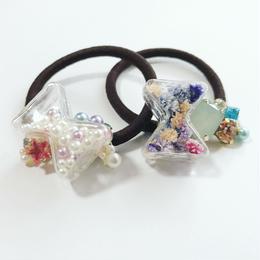 リボン型ガラスドーム♡女の子ヘアゴム
