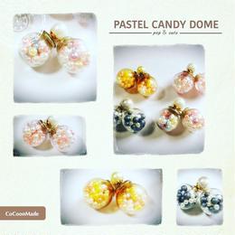 pastel CANDY ガラスドームピアス