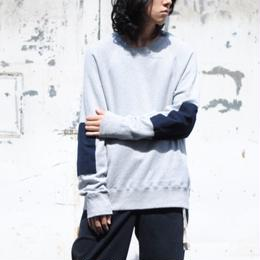 ANITYA/y-neck pullovers(grey×navy)