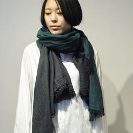 hatsutoki/doubleface cotton stole(Green/red/navy/black)