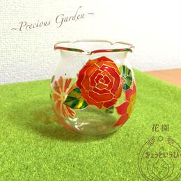 キャンドルホルダー ☆花園☆ 金魚鉢型
