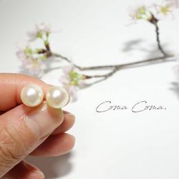 あこや真珠 ピアス クリーム  8.5mm