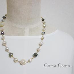 南洋バロック真珠 シャンク ネックレス