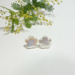 flower pearl ピアス