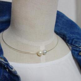 白蝶真珠 two pearl チョーカーネックレス