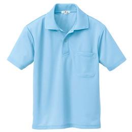半袖ポロシャツ(男女兼用)  サックス 10579-007