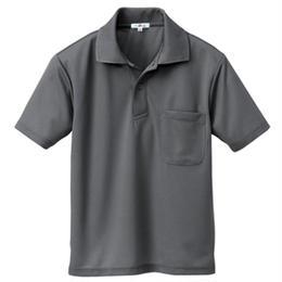 半袖ポロシャツ(男女兼用)  チャコールグレー 10579-044