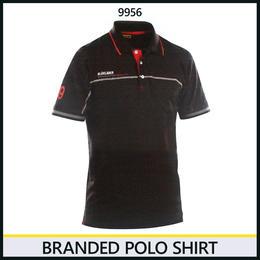 ブランドロゴポロシャツ ブラック/レッド 3327-9956