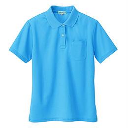 レディース半袖ポロシャツ スカイブルー 10589-106
