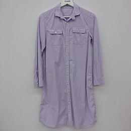 【Ladie's】TOMORROWLAND MACPHEE ストライプ ロングコットンシャツ(154)