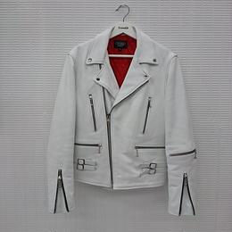 HORN ダブルライダースジャケット ホワイト(84)