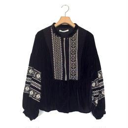 <women>ne Quittez pas(ヌキテパ)Jacquard Velvet Emb Jacket(010982398) / BLACK