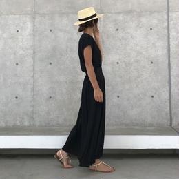 ゆるてろ素材!フレアマキシスカート/ロングスカート(3color)【クリックポスト対象商品】