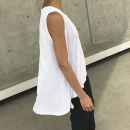 シンプル綿レーヨン裾フレアタンクトップ (2color)【クリックポスト対象商品】