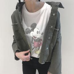 ヴィンテージ加工刺繍入りミリタリージャケット【クリックポスト対象商品】