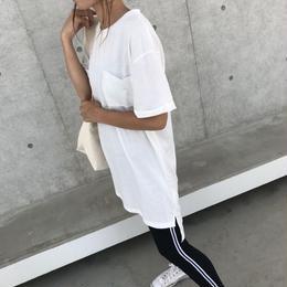 シンプルロングTシャツ/チュニック(3color)【クリックポスト対象商品】