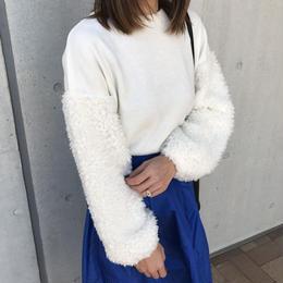 ★再入荷★袖が可愛いふわふわフェイクファーボリュームスリーブプルオーバー(4color)