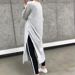 スリット入りシンプルTシャツワンピース/ロングTシャツ【クリックポスト対象商品】