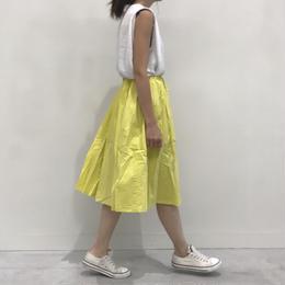 ミモレ丈タック入りコットンカラースカート(2color)【クリックポスト対象商品】