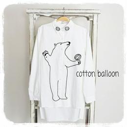 シロクマ刺繍シャツ