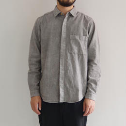 THE HINOKI / リネンコットンのポケットワークシャツ / GRAY