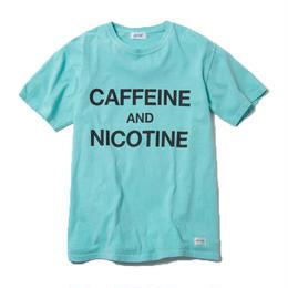 CAFFEINE & NICOTINE TSHIRT (MINT)【CC18SS-021】