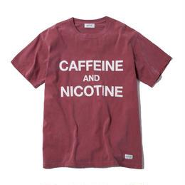 CAFFEINE & NICOTINE TSHIRT (BURGUNDY)【CC18SS-021】