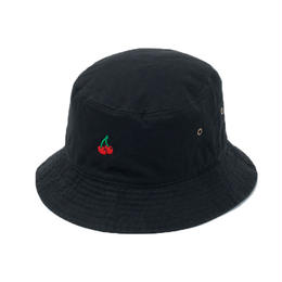 CHERRY BOY BUCKET HAT  (BLACK)【CC18SS-033】