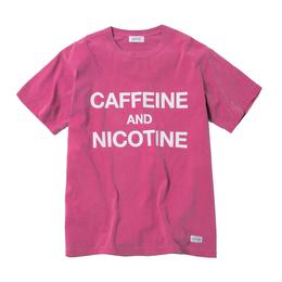 CAFFEINE & NICOTINE TSHIRT (BERRY)【CC18SS-021】