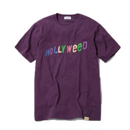 HOLLYWEED TSHIRT  (PURPLE) :  GANGSTER DOODLES【CC18SS-031】