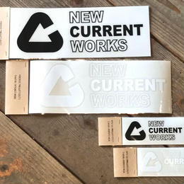 NEW CURRENT WORKS LOGO cutting sticker【Lサイズ】