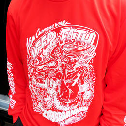 COMIC GIRL DRY LONG Sleeve Tee【RED】