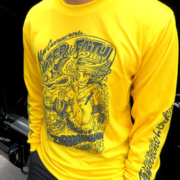COMIC GIRL DRY LONG Sleeve Tee【YELLOW】