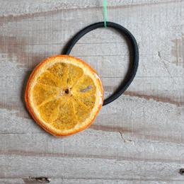 オレンジのヘアゴム ♯01