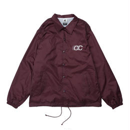 SHADOW LOGO COACH JACKET BURGUNDY