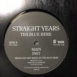 "(12""/ used) THA BLUE HERB / STRAIGHT YEARS   <HIPHOP / RAP / BREAKBEATS>"