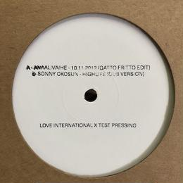 "(12"")  V.A.(compilated by GATTO FRITTO) / THE SOUND OF LOVE INTERNATIONAL 001 SAMPLER EP"