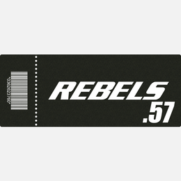 【TICKET】REBELS.57 A席 2018.8.3 後楽園ホール