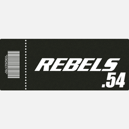 【TICKET】REBELS.54 B席 2018.2.18 後楽園ホール