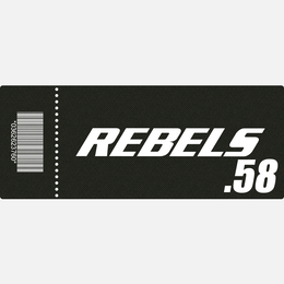 【TICKET】REBELS.58 A席 2018.10.8 後楽園ホール