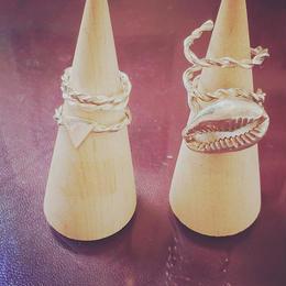 Order shiny shell silver ring (set)
