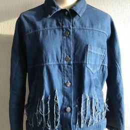 Fringe Jacket Indigo dye