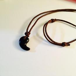 【最強魔除け】チベット産黒水晶★勾玉ネックレス