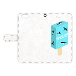 [手帳型iPhoneケース] Swim a Ice Candy