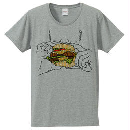 [Tシャツ] Diet is messed up when you eat this / Gray
