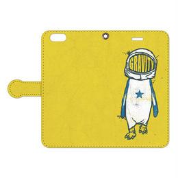 [手帳型iPhoneケース] Gravity Penguin