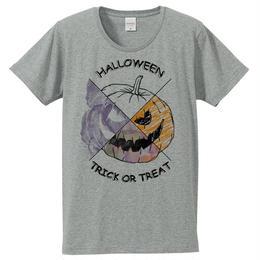 [Tシャツ] Halloween pumpkin  / Gray